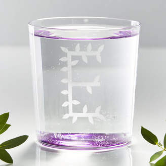 Sophia Victoria Joy Personalised Botanical Initial Glass