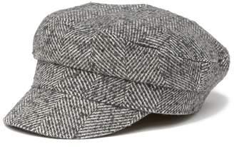 August Hat Herringbone Flat Cap