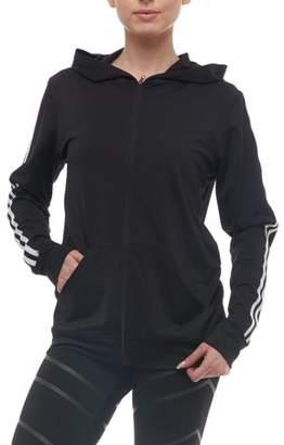 S2 Sportswear Women's Athleisure Varsity Stripe Zipper Hoodie