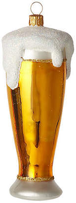 """One Kings Lane 5"""" Beer Ornament - Gold/Frost"""