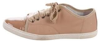 Lanvin Cap-Toe Low-Top Sneakers