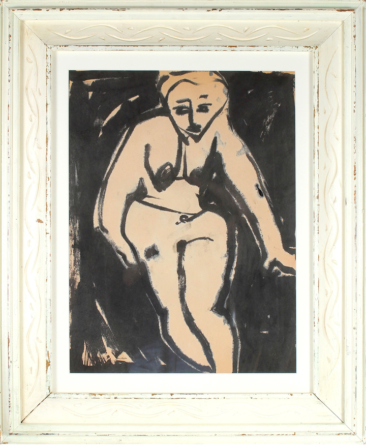 """""""Seated Nude"""" by Jane Rades"""