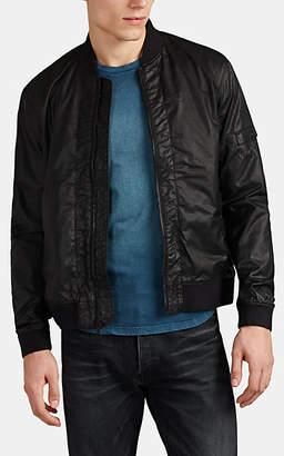 John Varvatos Men's Coated Twill Bomber Jacket - Black