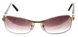 Cartier Gold-Plated Gradient Sunglasses