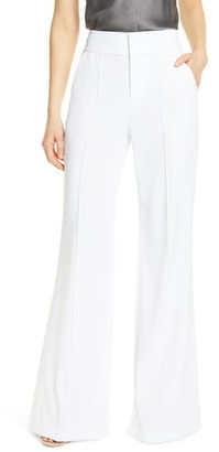 Alice + Olivia Dawn Center Seam Wide Leg Flared Pants