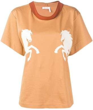 Chloé (クロエ) - Chloé Horse プリント Tシャツ
