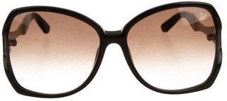 Swarovski Djulia Oversize Sunglasses $145 thestylecure.com