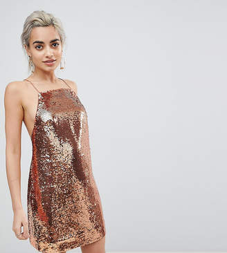 Asos Embellished Sequin Cami Mini Dress