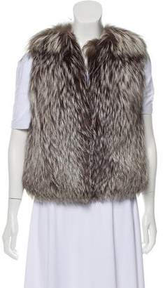 Derek Lam Silver Fox Fur Vest
