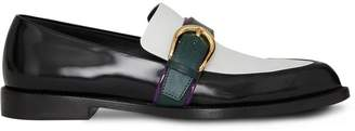 Burberry Colour Block Leather Monk Shoes