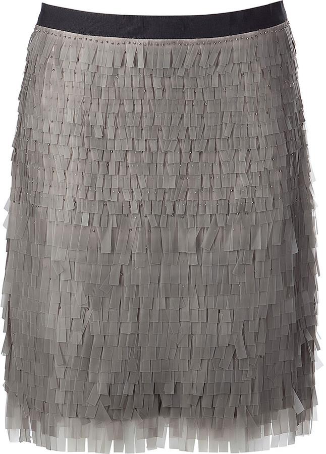 Jason Wu Grey Rubber Paillette Skirt