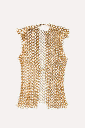 Paco Rabanne Chainmail Top - Gold