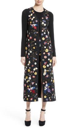 Women's Alice + Olivia Angelica Embroidered Long Vest $895 thestylecure.com