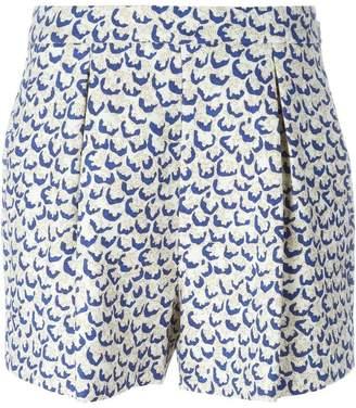 Giambattista Valli printed front pleat shorts