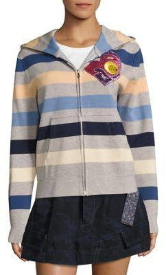 Marc Jacobs Marc Jacobs Striped Zip Front Hoodie