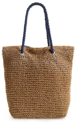 Cesca Rope & Straw Tote - Brown $35 thestylecure.com