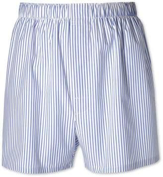 Charles Tyrwhitt Sky Blue Stripe Woven Boxers Size Large