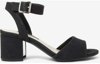 Dorothy Perkins Womens Black 'Sabrina' Block Heel Sandals