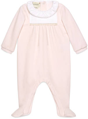 Baby chenille sleepsuit with pleats $295 thestylecure.com