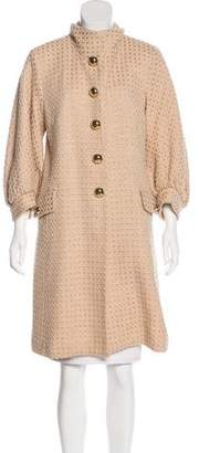 Milly Metallic-Accented Wool Coat