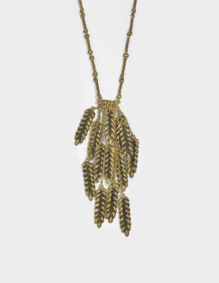 Aurelie Bidermann Wheat 13 Cobs Long Necklace in 18K Gold-Plated Brass
