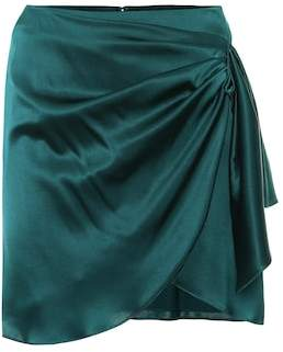 Caroline Constas Koren gathered silk miniskirt