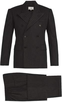 Maison Margiela Pinstripe wool-felt three-piece suit