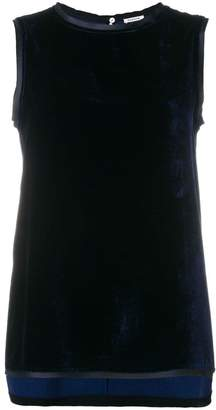 P.A.R.O.S.H. sleeveless vest with trim