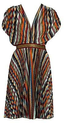 Missoni Women's Plissé Multi Stripe Mini Dress