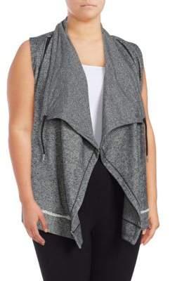 Calvin Klein Plus Flyaway Sweatshirt Vest