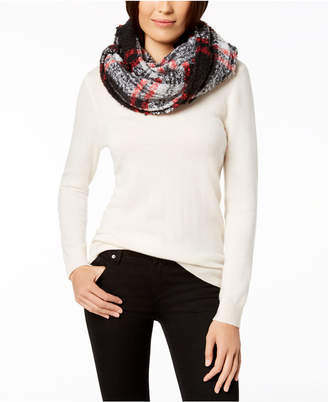 Charter Club Boucle Plaid Infinity Scarf