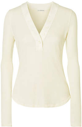 James Perse Ribbed Cotton-jersey Top - Ivory