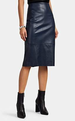 The Row Women's Jaston Leather Pencil Skirt - Navy