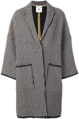 Semi-Couture Semicouture houndstooth coat
