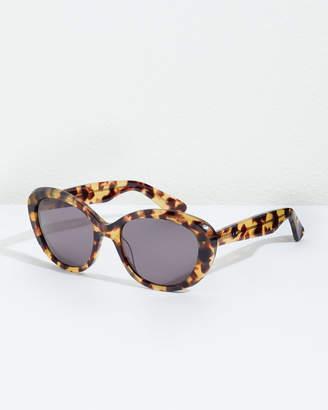 Jigsaw Rosy Oval Cat Eye Frame Sunglasses