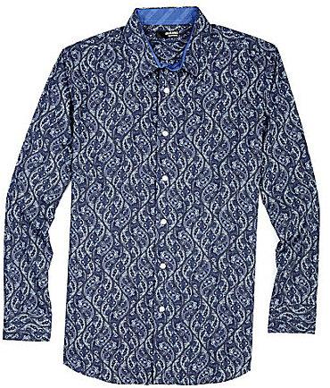 Murano Liquid Luxury Long-Sleeve Paisley Sportshirt