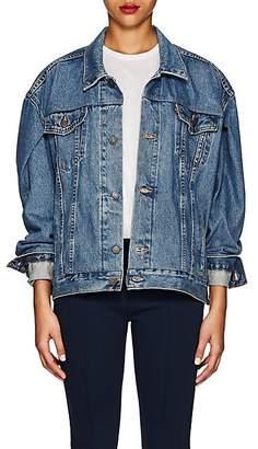 Lisa Perry Women's Fleurty Oversized Denim Jacket - Blue