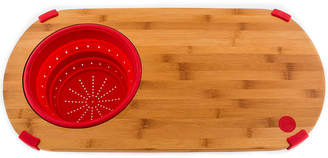 Fiesta Bamboo Cutting Board with Silicone Colander