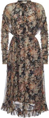Zimmermann Tempest Frolic Printed Silk Chiffon Dress
