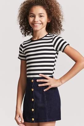 Forever 21 Girls Stripe Bodysuit (Kids)