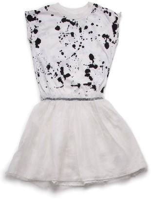 Toddler Girl's Nununu Splash Tulle Dress $66 thestylecure.com