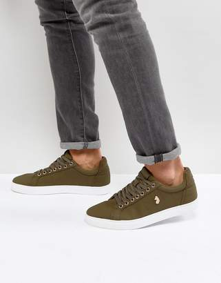 Luke 1977 Haskell Quilted Trainers in Green