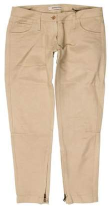 Ermanno Scervino Low-Rise Skinny Pants w/ Tags Khaki Low-Rise Skinny Pants w/ Tags