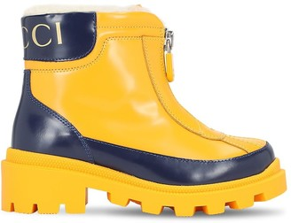 Gucci Rubber Boots W/ Terrycloth Details