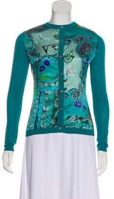 Versace Printed Wool Cardigan