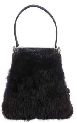 Judith Leiber Fur Evening Bag brown Fur Evening Bag