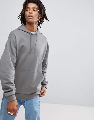 Asos Oversized Hoodie In Gray