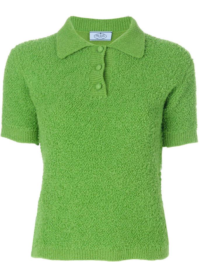 Prada fluffy polo shirt