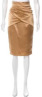 Elisabetta Franchi Silk Knee-Length Skirt w/ Tags