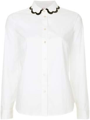 RED Valentino scallop collar shirt